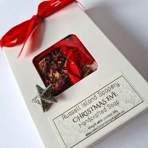 NEW Christmas Gift Pack CHRISTMAS EVE Handcrafted Hanging Soap Made in Australia